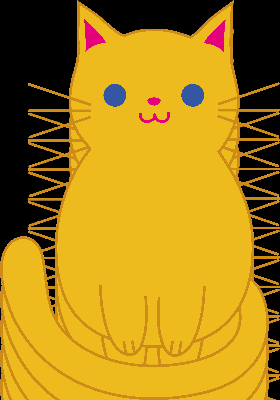 fat cat clip art cute orange kitten clip art [ 3528 x 5039 Pixel ]