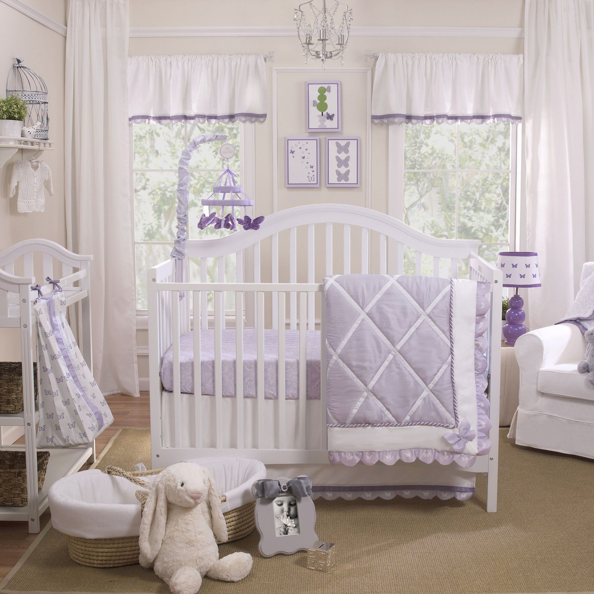 Papillon 4 Piece Crib Bedding Set   Jaycie Lee   Pinterest