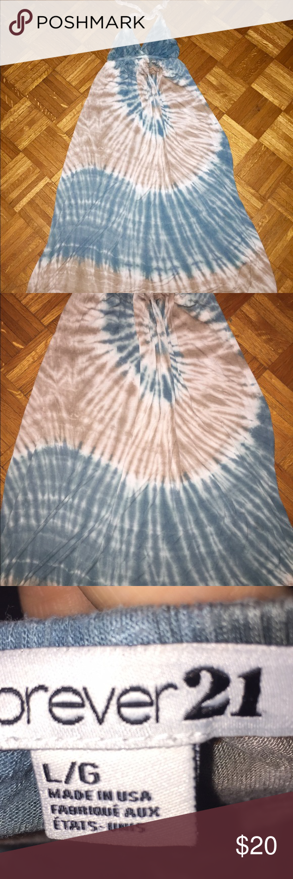 Tye Dye Open Back Maxi Beautiful dress!! So comfy!! Open back. Excellent condition. Size L. Dresses Maxi
