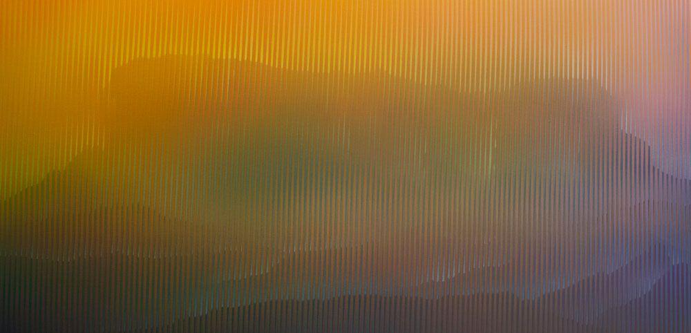Artista: MARTÍN MORALES. Kukenan, 2014. Medidas: 74x144cms. Acrílico s/tela