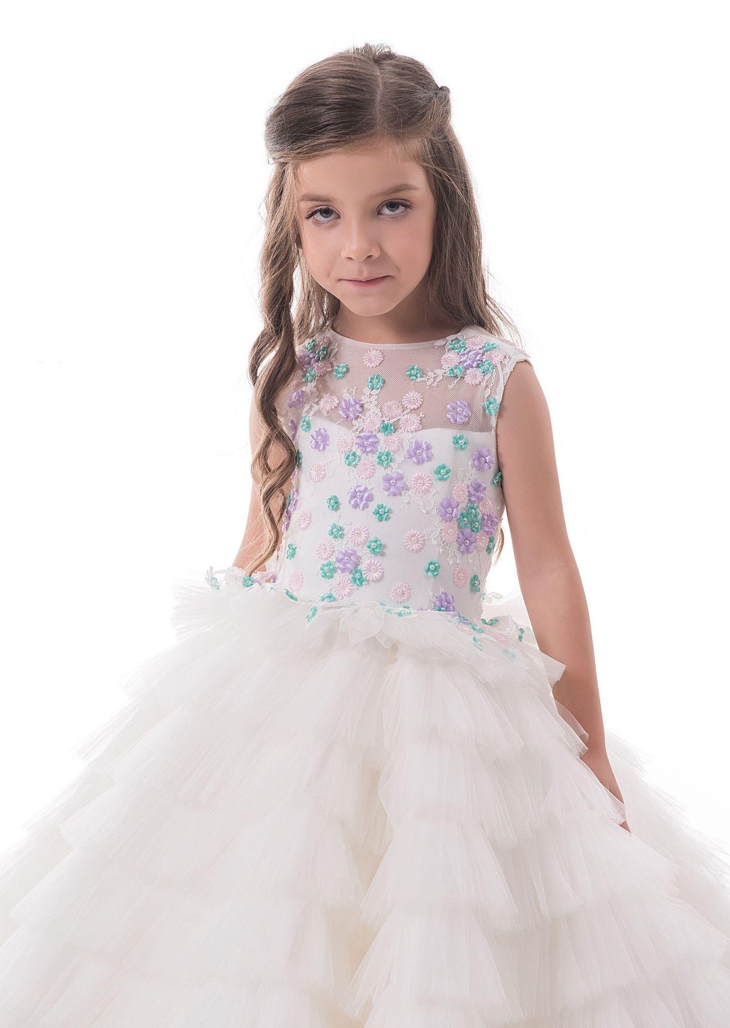 70913856d Flower Girl Dresses Alba - Floor Length Birthday Girl Dress with ...