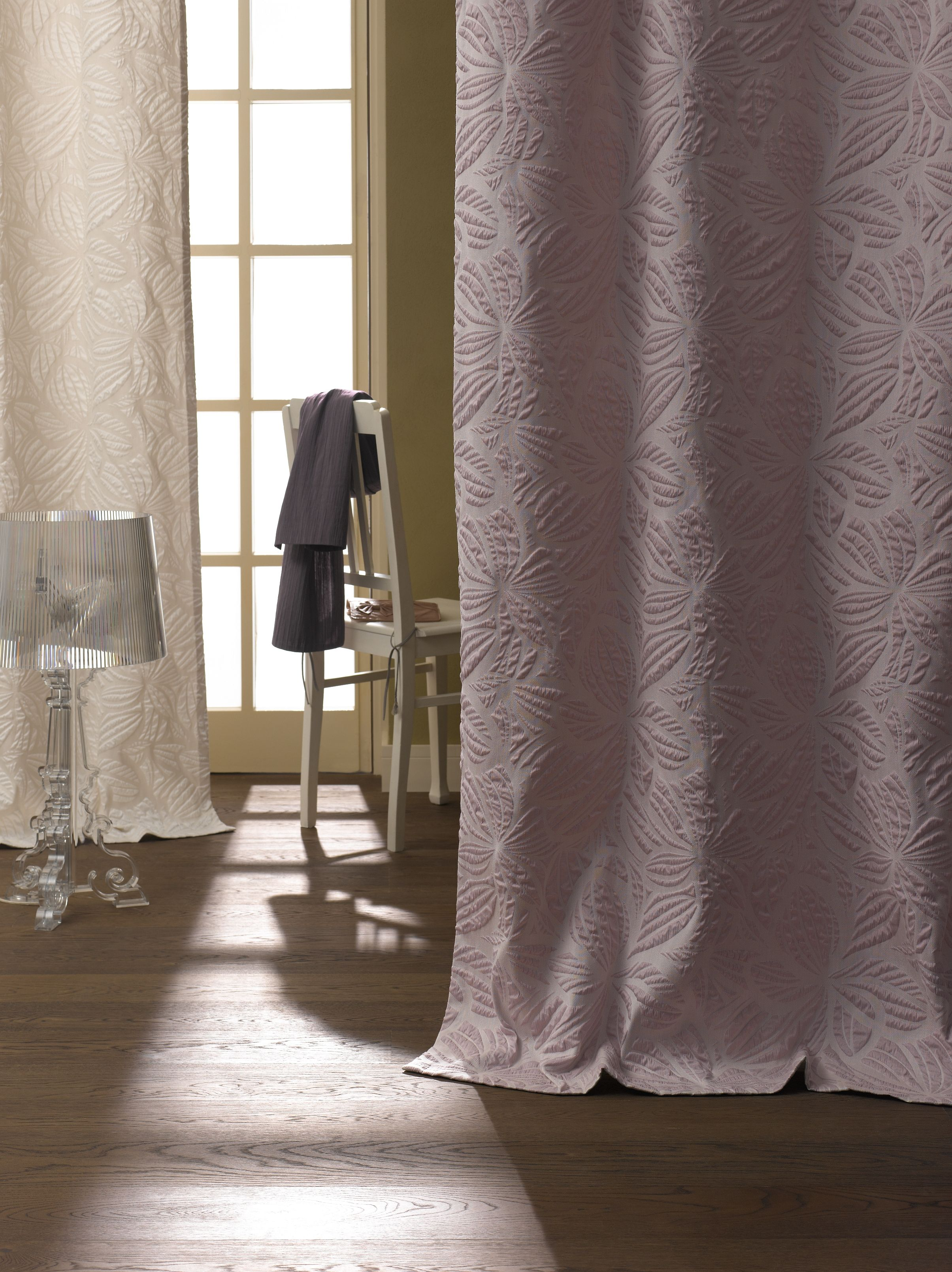 ADO Designer Fabric | 1419 Dahlia | Raised Pattern Overdrapery | Available in 6 Colors | Elite Collection | Curtains | Drapes