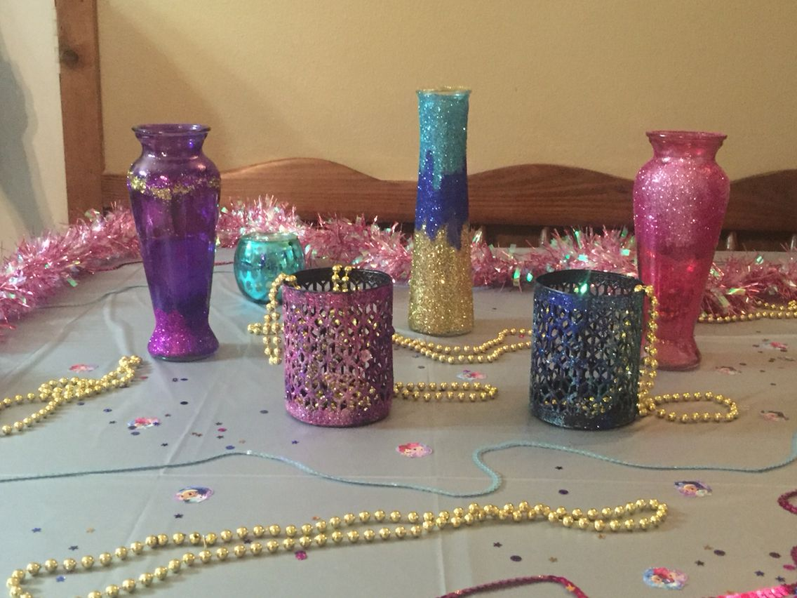 Shimmer And Shine Party Diy Dollar Tree Crafty Birthday Partys