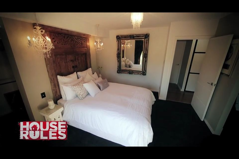 Master Bedroom House Rules tv show: house rules - bedroom carole and russell's master bedroom