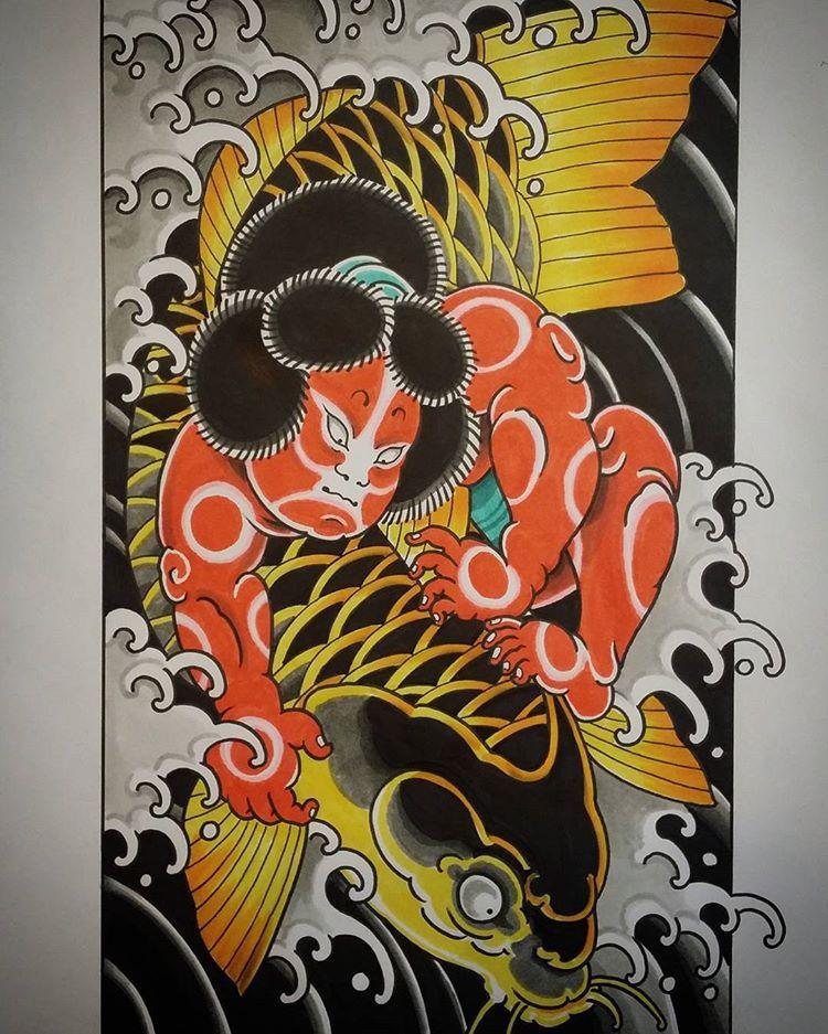 Kintaro print I made for @grimoire666 :) Merry Christmas everyone! #Kintaro  #kintarotattoo #kintaroprint #goldenboy #… | Hình xăm nhật, Ý tưởng hình xăm,  Hình xăm