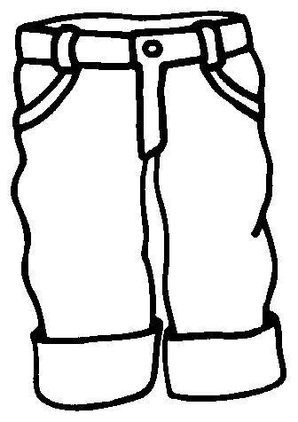 colorea pantalon | ぬりえ | Pinterest | Colorear