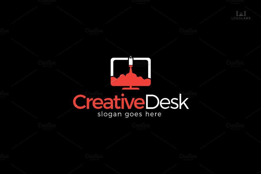 Creative Desk Logo Desk Creative Templates Logo Presentation Template Free Creative Desks Templates