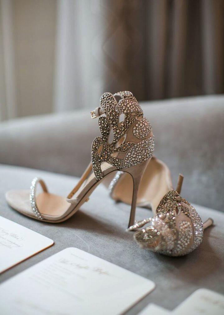 Soft And Romantic Beverly Hills Wedding Champagne Wedding Shoes
