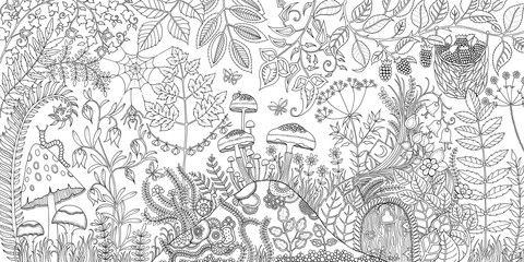 Enchanted Forest Coloring Pages