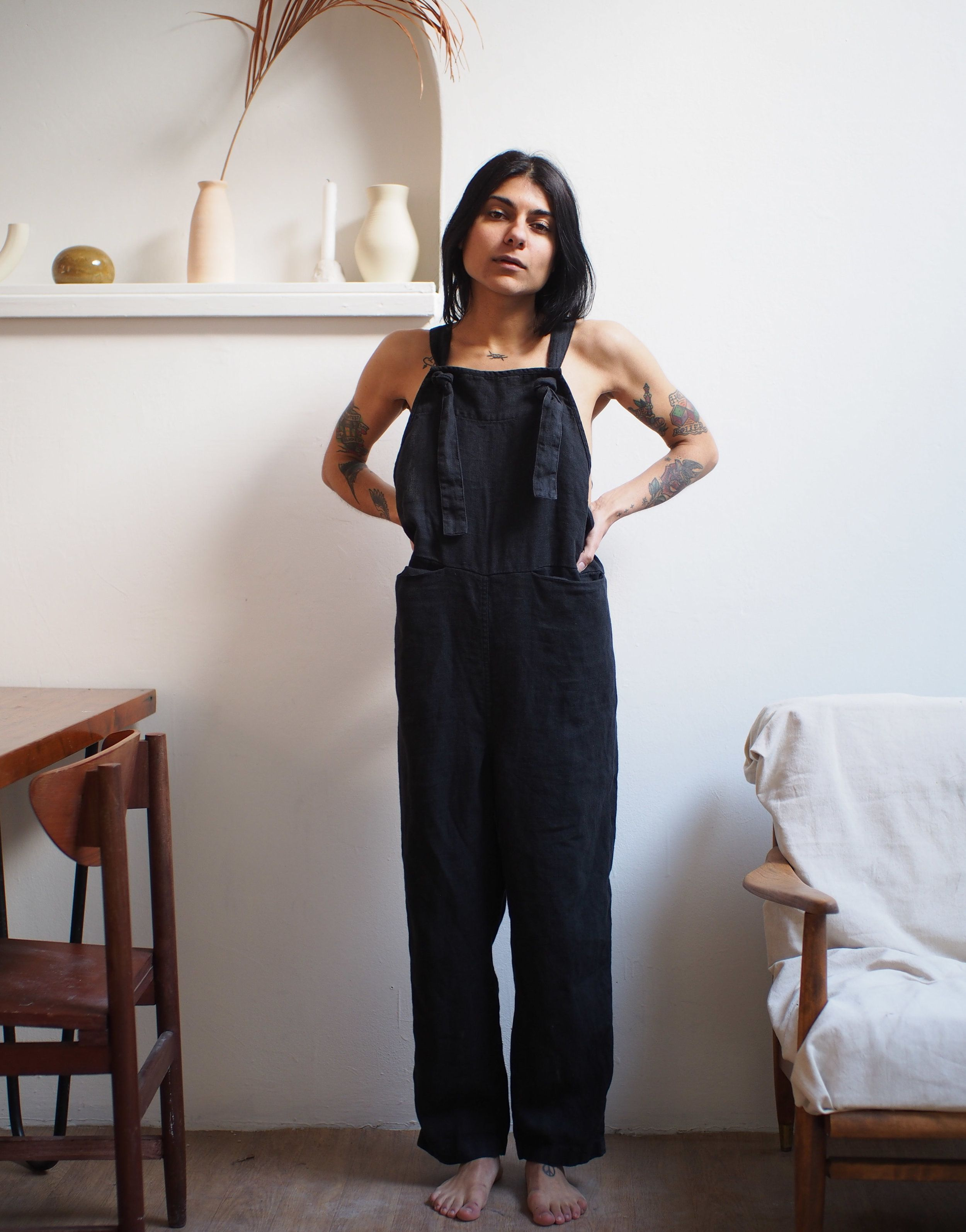 525ec8caa481 beaton linen overalls in black (to replace madewell overalls ...