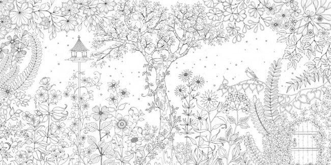 gartenmalbuch  secret garden coloring book kostenlose