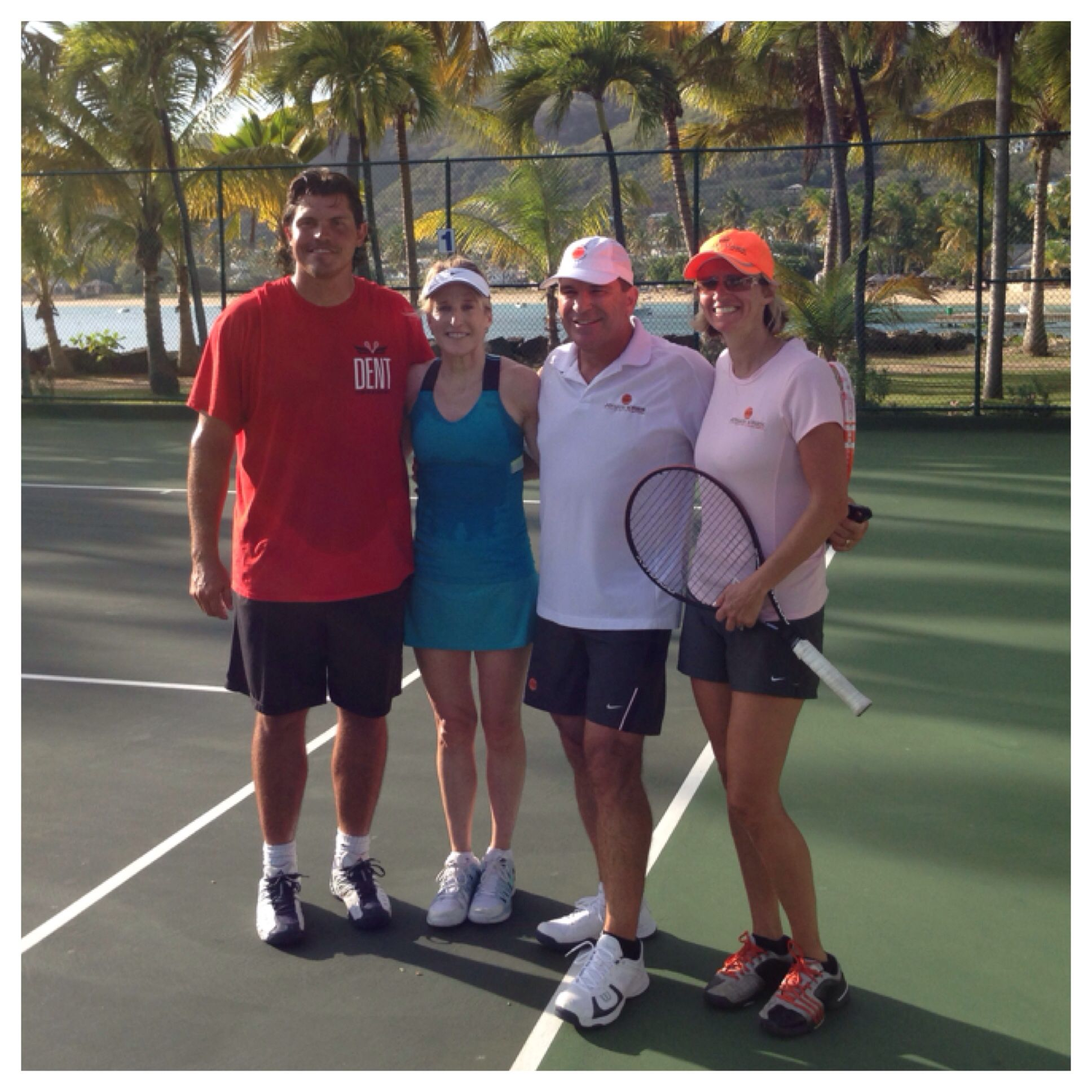 Johan Kriek And His Wife Daga Teamed Up Today For The First Time In Years To Play An Exhibition Together Against Tracy Tracy Austin Jimmy Connors John Mcenroe