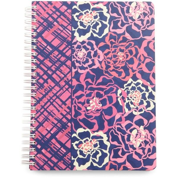 Vera Bradley Mini Notebook With Pocket In Katalina Pink 12 Liked On Polyvore