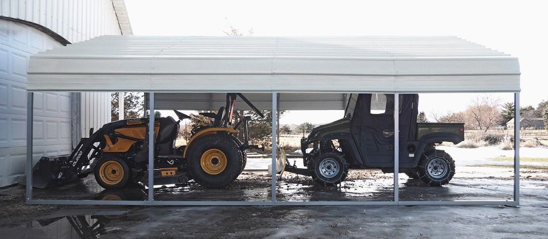 This rugged outdoor carport by Versare will shelter your