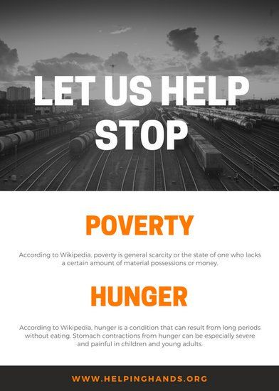Black And White Street Photo Grid Food Drive Flyer Canva Templates