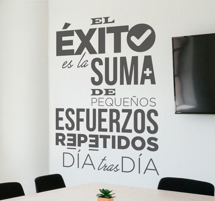 Adhesivo De Frases Motivadoras Trabajo Con Un Diseño Moderno
