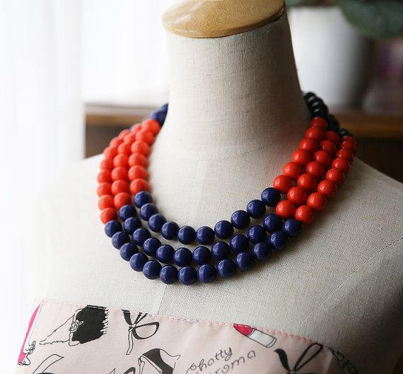 Dramatic Multi Strand Statement Necklace  Colorful by Payless4fab