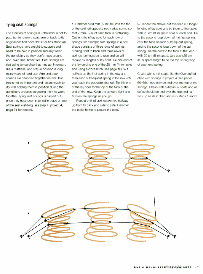 How to tie springs | Furniture | Pinterest | Stühle beziehen ...