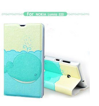 For Nokia 520,wallet flip leather case for Nokia 520T Lumia 520 case mobile phone bags&cases $15.99