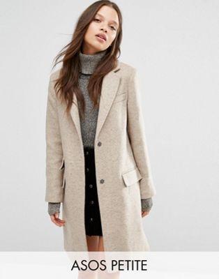 hot-selling timeless design vast selection PETITE Wool Blend Slim Coat With Pocket Detail | My little ...