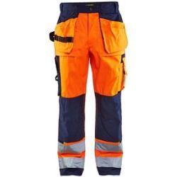 """Photo of Blakläder® unisex Warnschutzhose High-vis """"1533"""" orange Größe 58"""