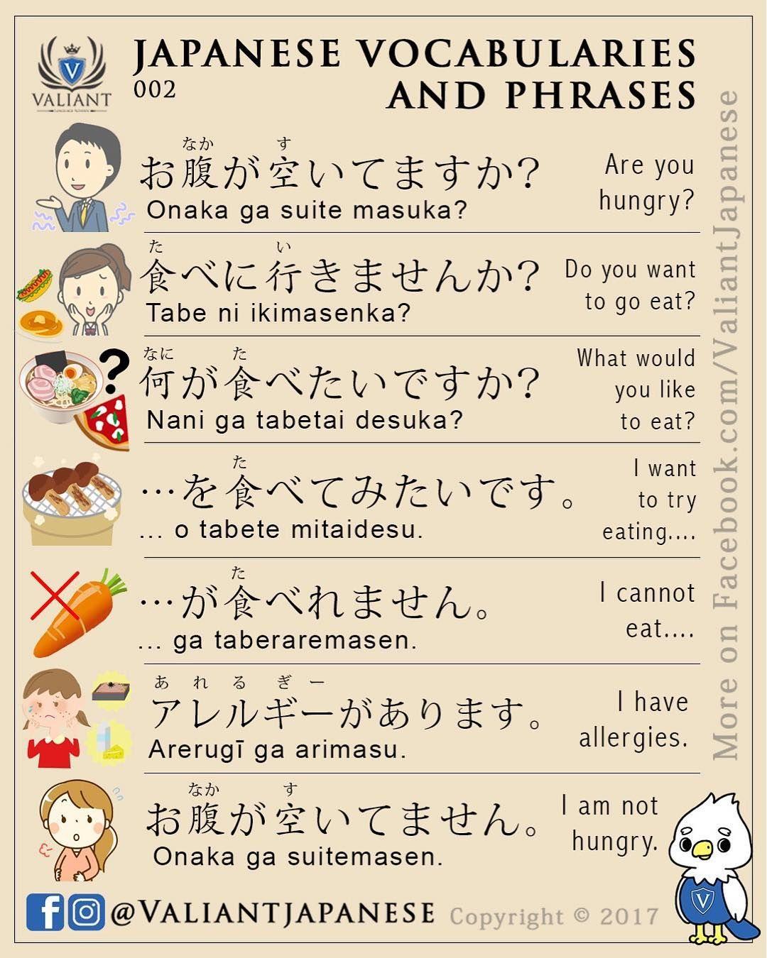 Valiant Language School Valiantjapanese On Instagram Japanese Vocabulary And Phrases 002