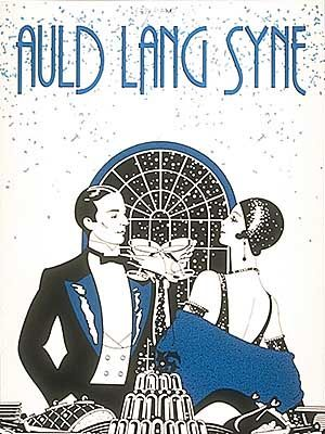 Auld Lang Syne retro print--LOVE, LOVE, LOVE. I would totally frame this.