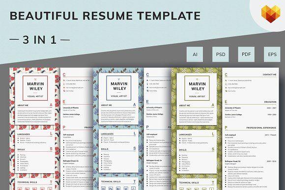 Visual Artist Resume Template Pinterest Artist resume, Template