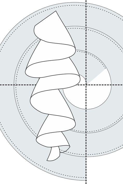 Volado formando caracol | costura facil | Sewing, Sewing patterns y ...