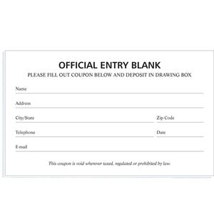 Blank Entry Forms With Images Word Template Raffle Tickets
