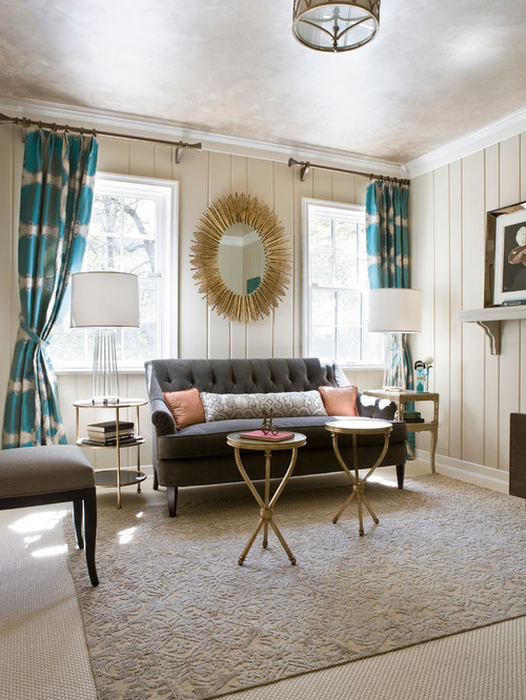 Painted Paneling Living Room: Painting Wood Paneling Ideas 107