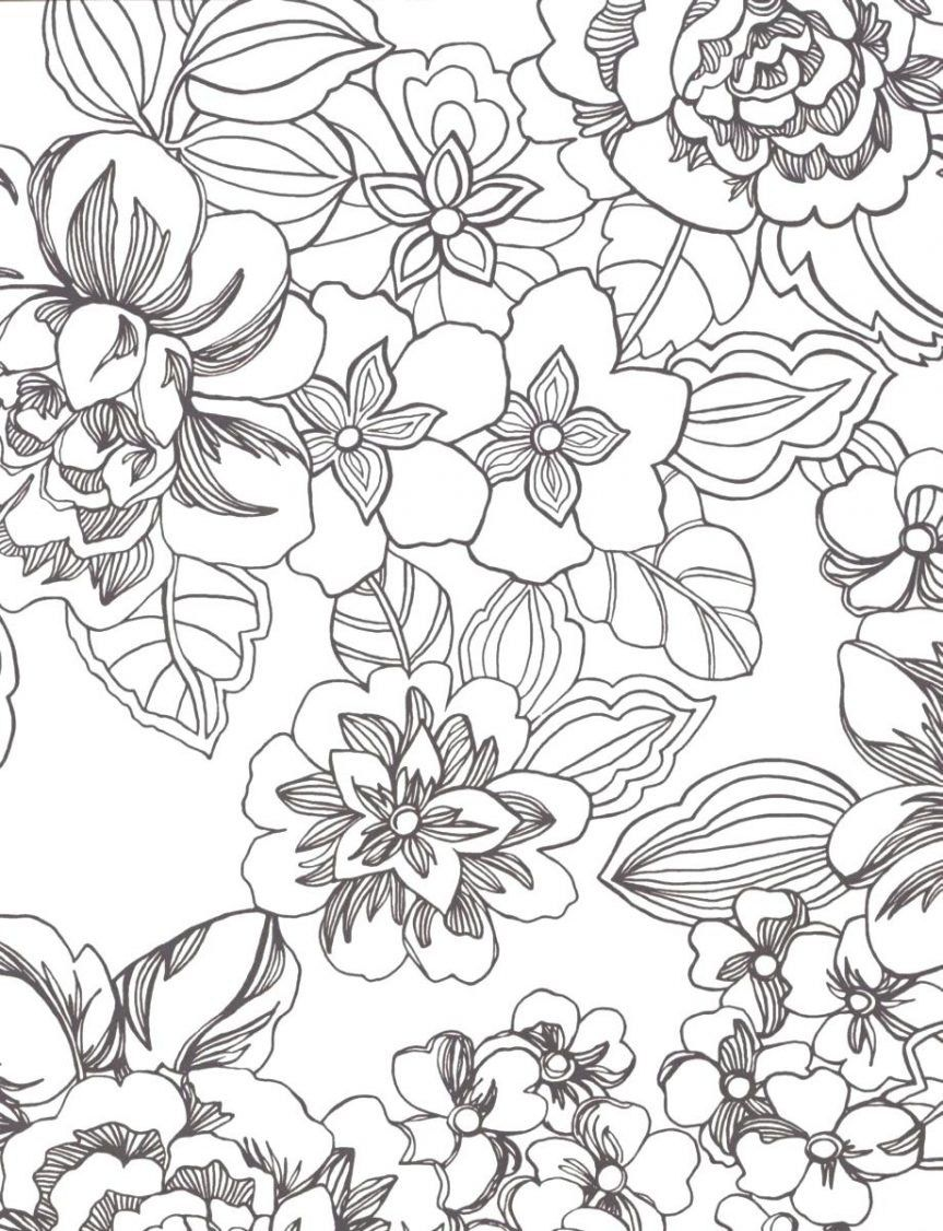 tropical flower coloring pages - photo#9