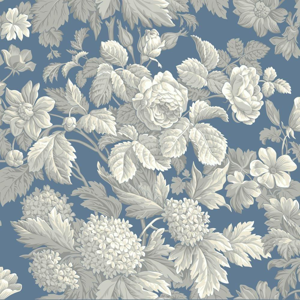 York Wallcoverings Antique Floral Wallpaper KC1845 in 2020