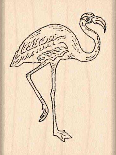 Flamingo Rubber Stamp  112 inches x 2 inches * Click on the image for additional details.