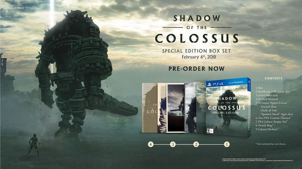 shadow of the colossus collector s edition revealed the upcoming