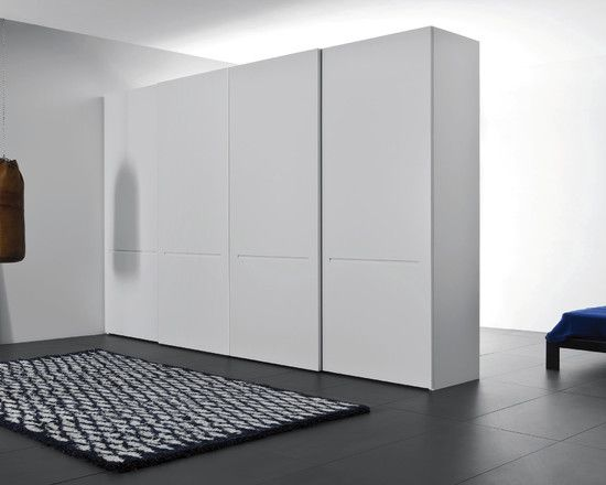 Extraordinary Free Standing Closet Designs To Complete Modern Room Plans :  White Free Standing Closet With Black And White Rug For Your Home.