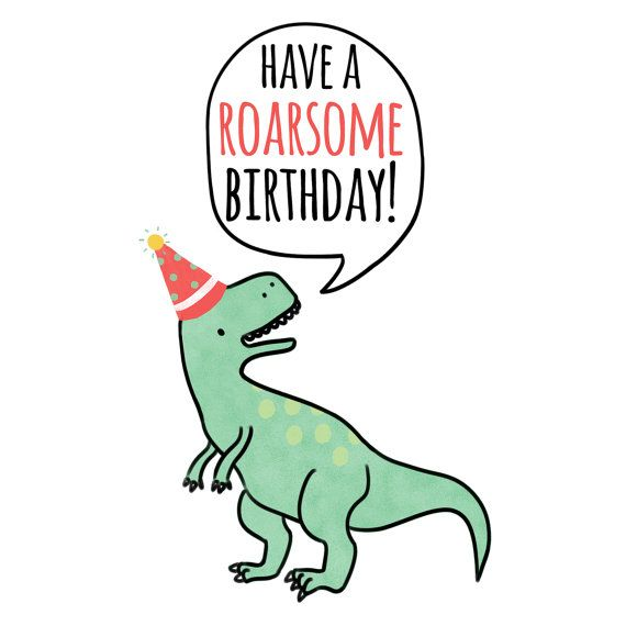 Have A Roarsome Birthday Card T Rex Greeting Hand