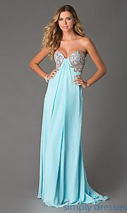 Buy Long Embellished Sweetheart Gown by Jasz at SimplyDresses