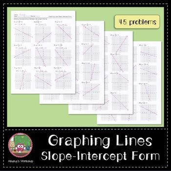 This Worksheet Covers The Slope Intercept Form Of Lines No Frills