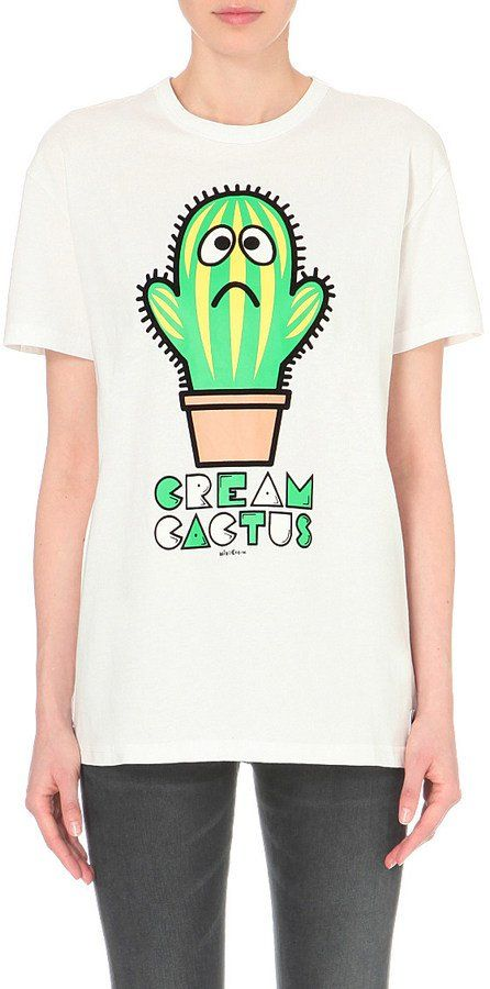 a6e3a54d You Can Pull Together a Cactus Halloween Costume With 1 of These 43 Pieces  MINI CREAM Cactus-print cotton-jersey t-shirt ($68)