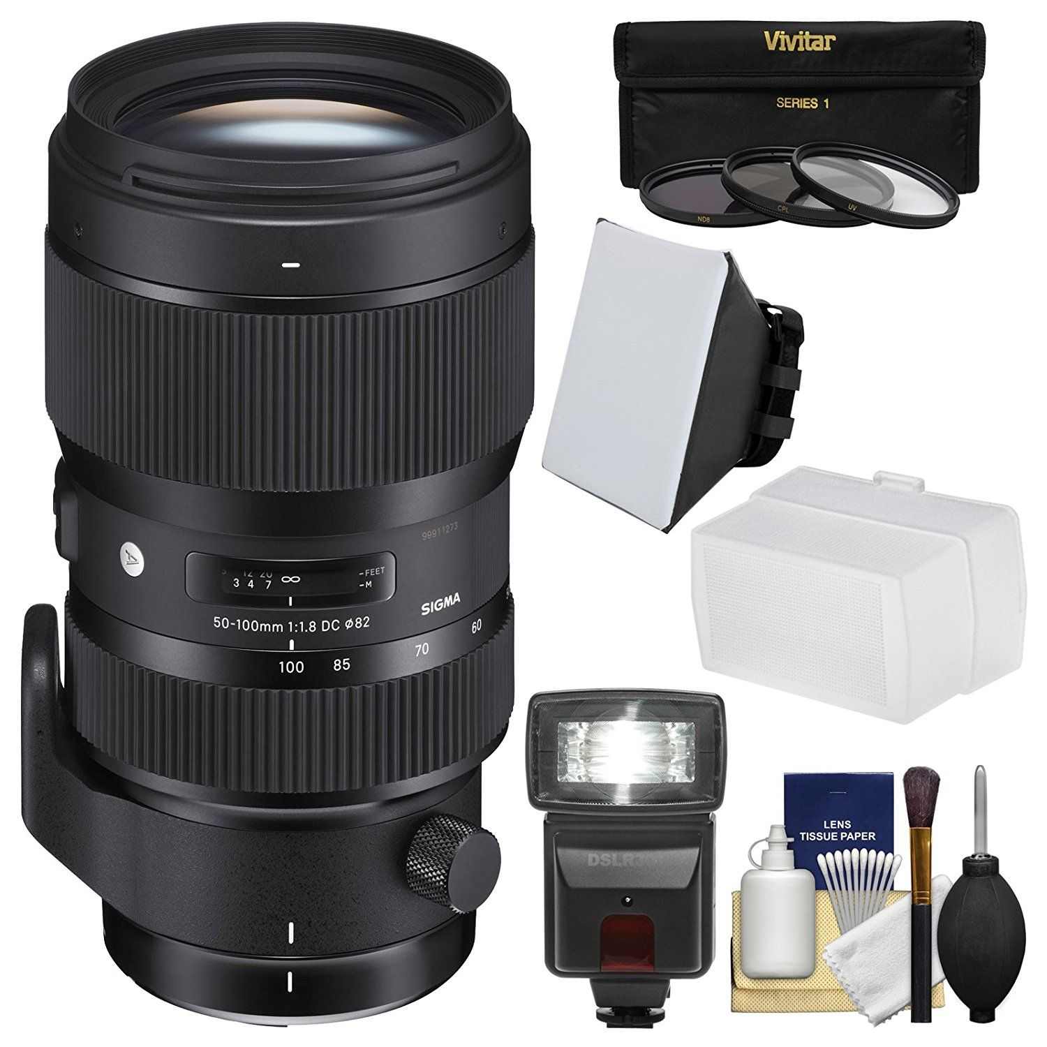 Sigma 50 100mm F 1 8 Art Dc Hsm Zoom Lens With 3 Filters Flash