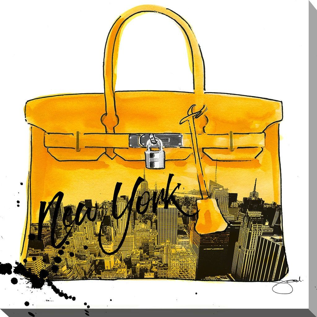 BY Jodi \'Yellow New York\' Giclee Stretched Canvas Wall Art by ...