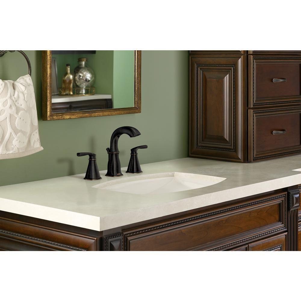 MOEN Hensley 8 in. Widespread 2-Handle Bathroom Faucet in ...