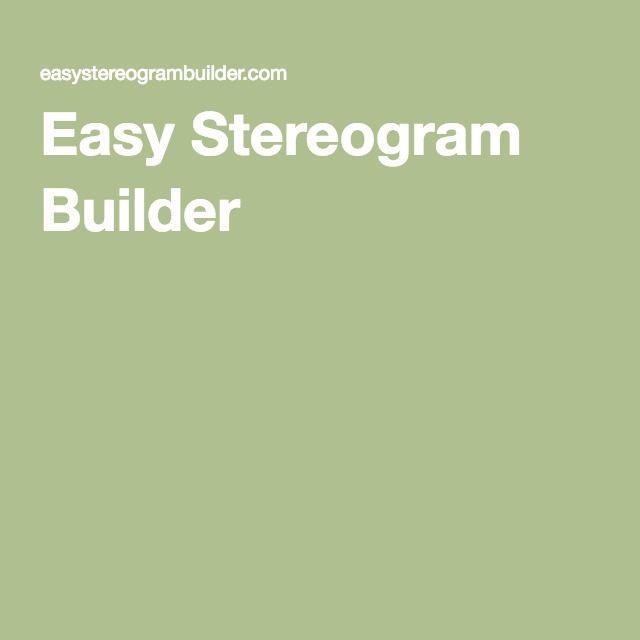 easy stereogram builder gràfico pinterest 3d stereograms and 3d