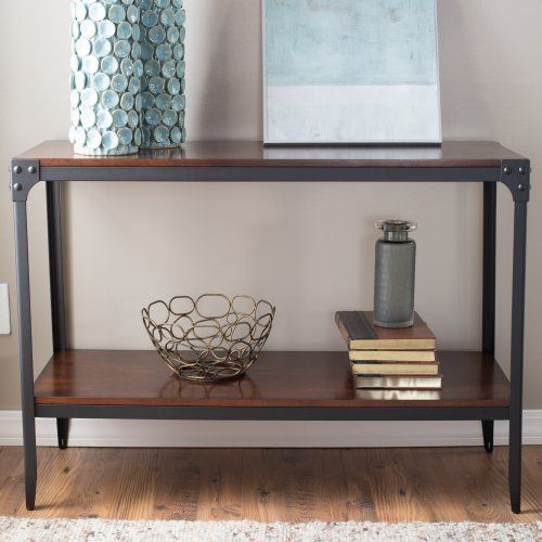 Belham Living Franklin Reclaimed Wood Industrial Coffee Table: Console Table Belham Living Trenton Industrial Console