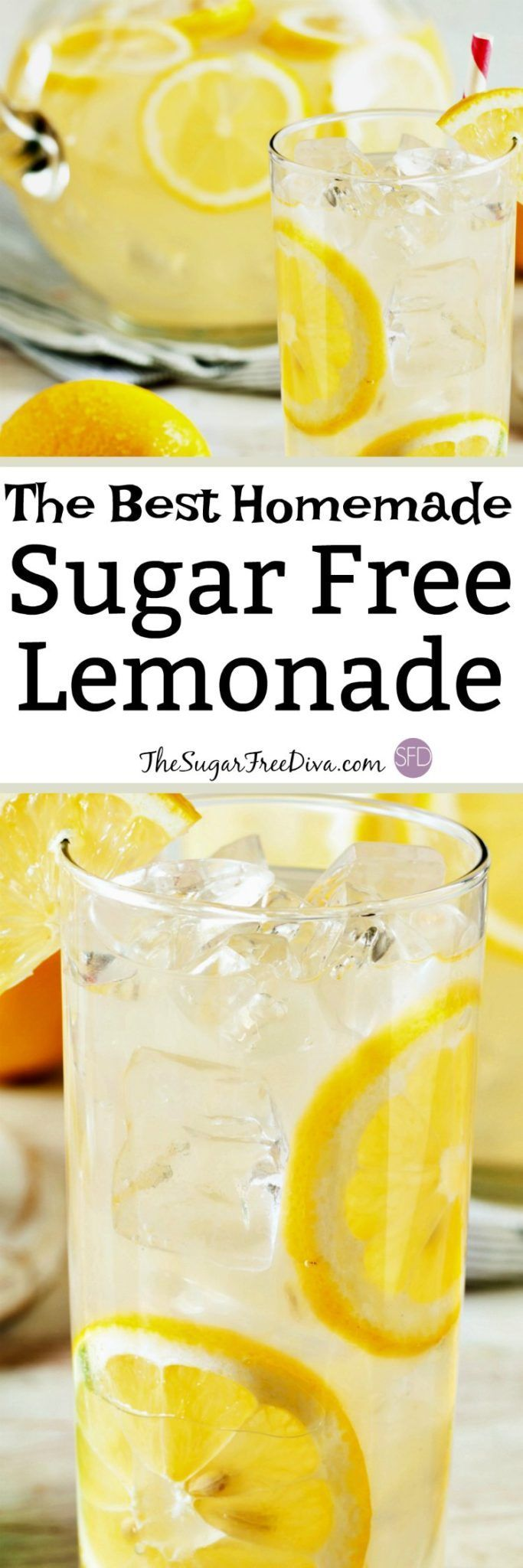 This is the recipe for The Best Sugar Free Homemade Lemonade #homemadelemonaderecipes