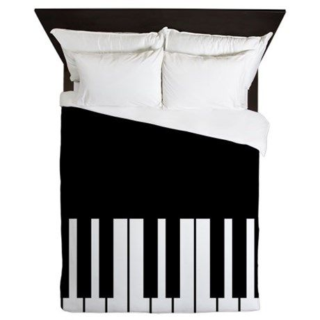217be2c9a48e Piano Key Queen Duvet in 2019 | Everything that's Music | Music ...