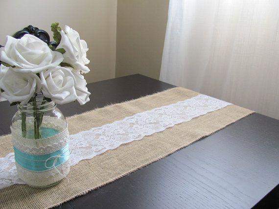 Lace & Burlap Table Runner  DIY Wedding by SilverStarfishDesign, $8.00