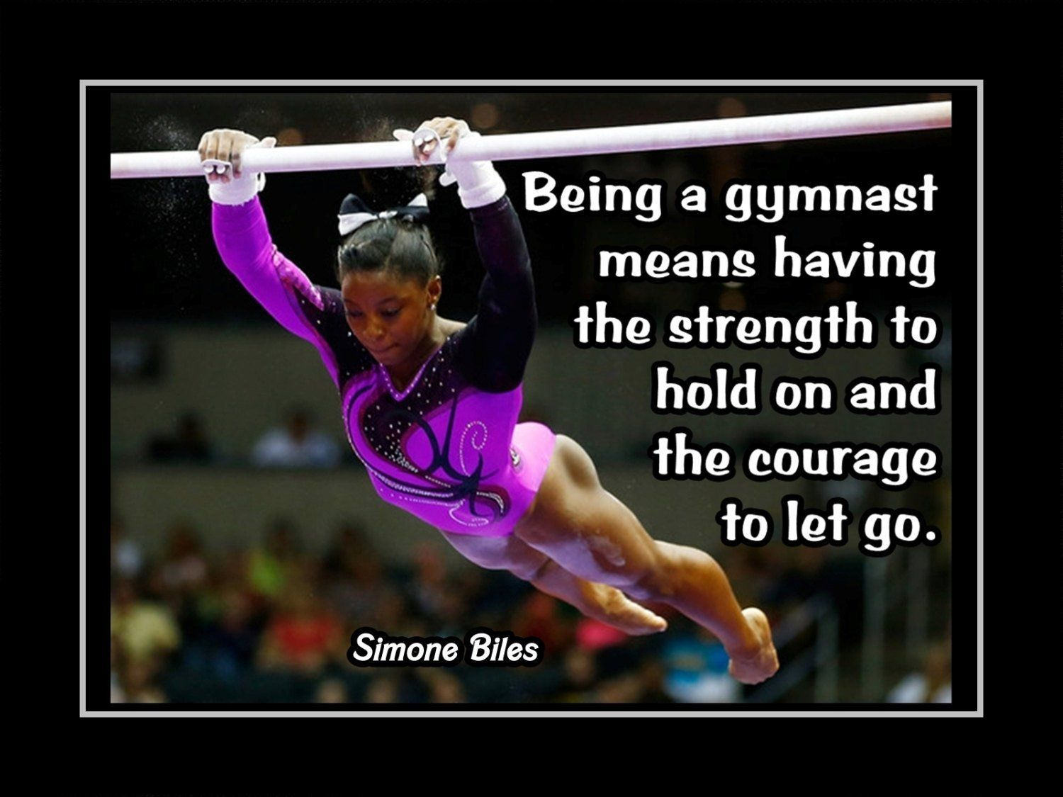 Gymnastics Motivation Quote Poster, Gift, Fan Photo Wall