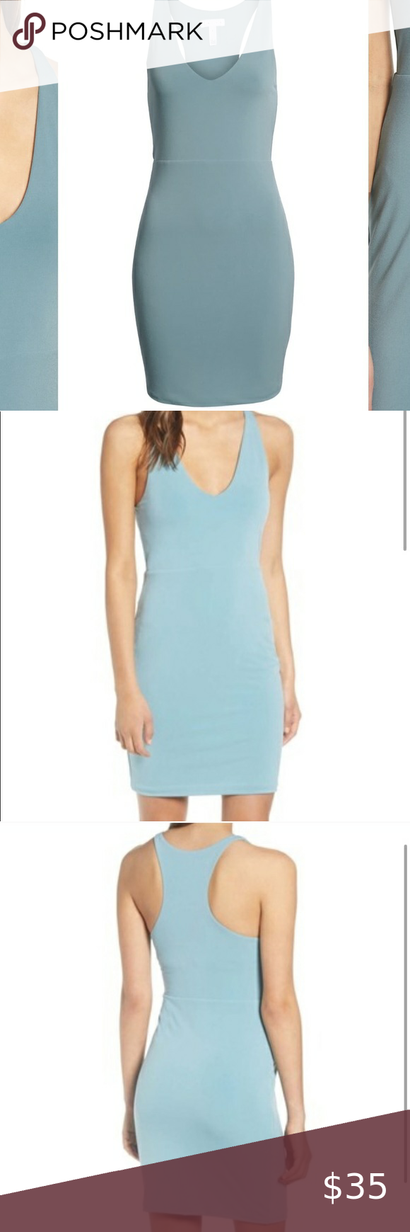 Leith Racerback Bodycon Dress Teal Xxs Brand New Never Worn The Dress Is Teal Like The Pictu Bodycon Dress Long Sleeve Sweater Dress Sweater Dress Midi [ 1740 x 580 Pixel ]